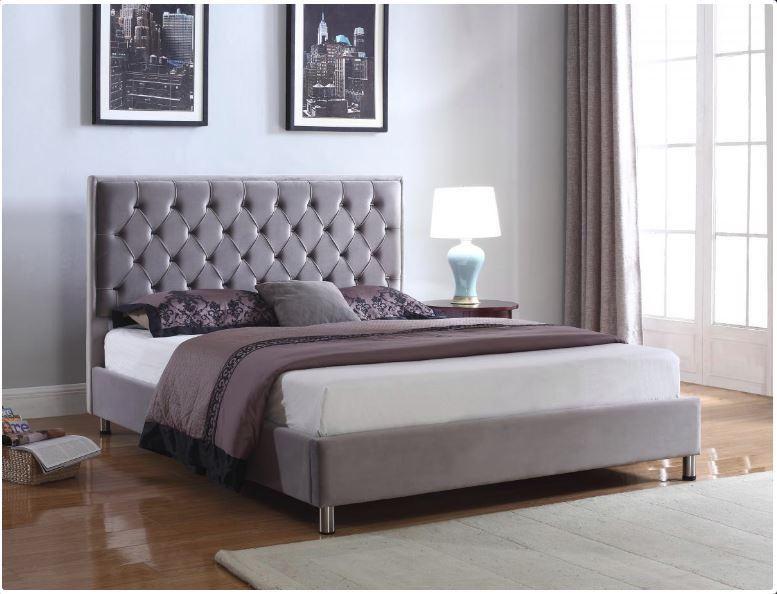 premium selection ba96d 4c831 Izabel Velvet Double Bed